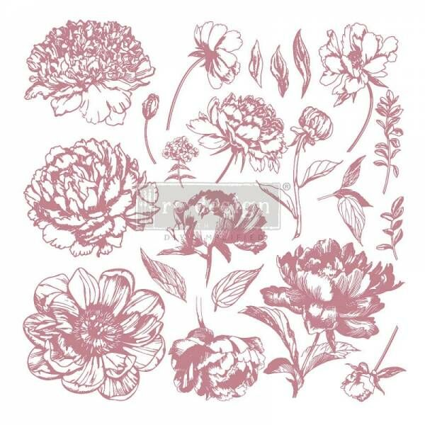 ReDesignwithprima Stempel Linear Floral Shabby World