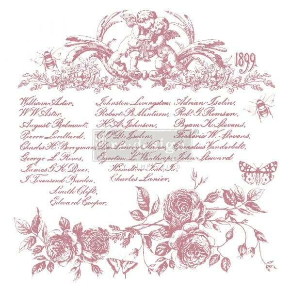 ReDesignwithprima Stempel Floral Script Shabby World