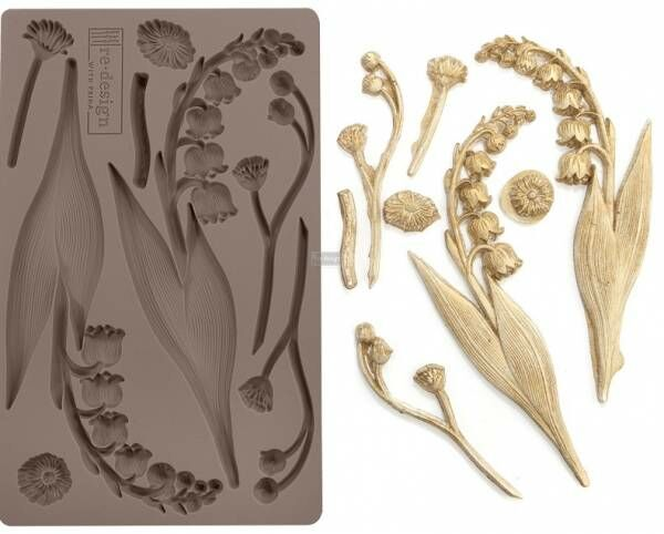 Shabby World design Mould Bell Orchids redesignwithprima