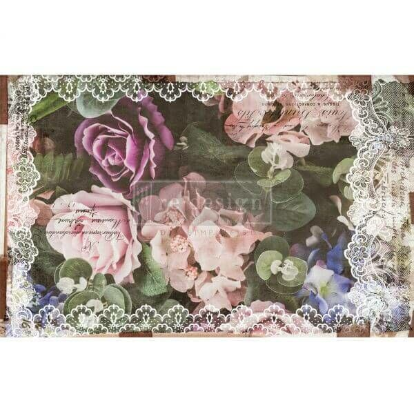 Redesignwithprima Shabby World Dark Lace Floral
