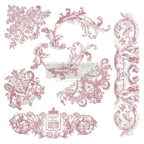 ReDesignwithprima Stempel Chateau De Maisons Shabby World