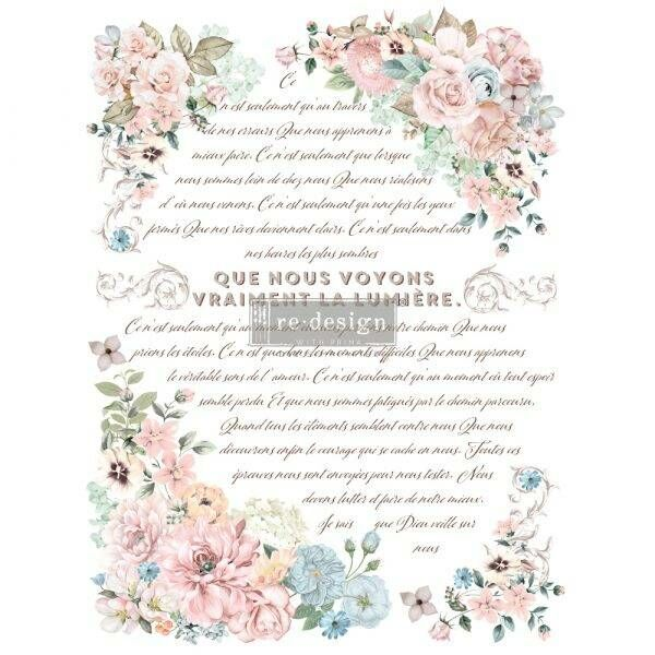 Shabby World Redesignwithprima Transfer Pure Light Floral