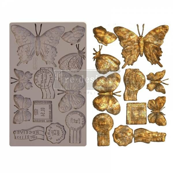 Shabby World design Mould Butterfly in flight redesignwithprima